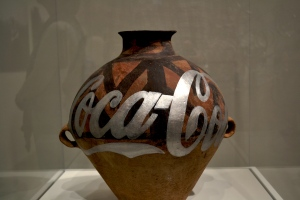 Another graffitied urn.