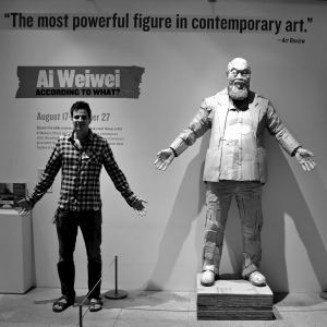 Ai Weiwei and me.