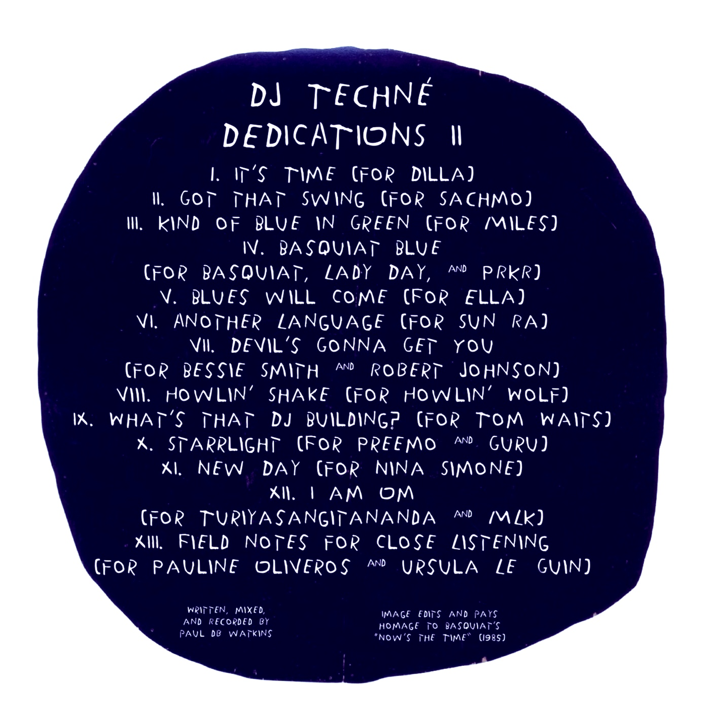 DJ Techné - Dedications II - back